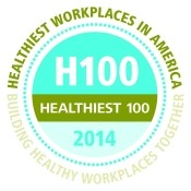100 healthiest workplaces in america 2014 awarded by healthiest 100