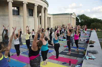BlueCross BlueShield Offers Free Yoga Series at Albright-Knox Art Gallery