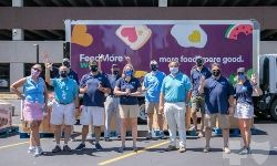 BlueCross BlueShield Employees Fill FeedMore WNY Truck with 5 Tons of Most-Needed Food Items