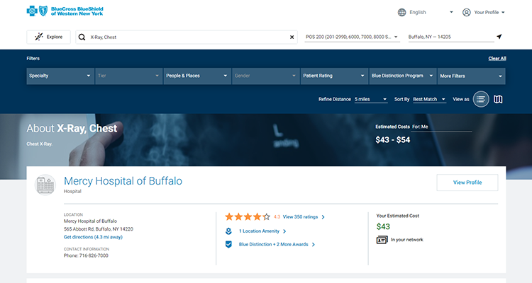 Treatment Cost Advisor Tool - Calculate Cost of Treatment | BCBS of WNY