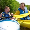 Father and son go kayaking together
