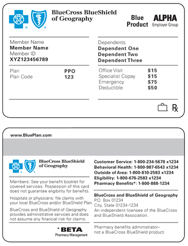 Bcbs Insurance Card Example ~ news word